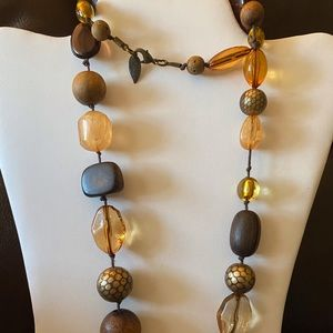 Coldwater Creek Chunky Beaded Necklace